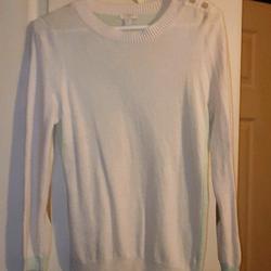 J. Crew Sweaters | J. Crew Sweaters | J Crew 2 Tone Sweater Small | Color: Cream/Green | Size: S