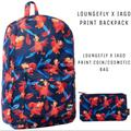Disney Bags | Loungefly Disney Aladdin Iago Backpack & Bag Set! | Color: Blue/Orange | Size: Set Of 2