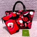 Kate Spade Bags | Nwot Kate Spade Grant St Floral Satchel & Wallet | Color: Pink/Red | Size: Satchel: 12w X 8h X 4d. Wallet: 8w X 4h
