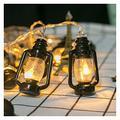 DingSORA Kerosene Bottle Light String LED Fairy Garland Lantern String Battery Powered Lights Guirlande Exterieur Solaire Slinger Outdoor (Color : White)
