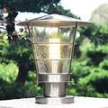 FXLYMR Wall Lamp Bedside Lamp Home Decoration Outdoor Column Head Lamp, External Rainproof Stainless Steel Column Head Lamp, Waterproof Terrace Landscape Lighting Wall Garden Lamp E27