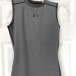 Under Armour Shirts & Tops | Boys Under Armour Sleeveless Fitted Shirt Sz Large | Color: Gray | Size: Lb