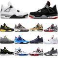 Baskets de Sport pour hommes, chaussures de basket-ball 4 Thunder Pure Money made Cool, gris et