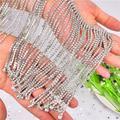 Chaîne en strass scintillant, magnifiques glands longs, collier en argent cristal, rideau,