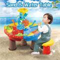 Ensemble de bacs à sable et d'eau pour enfants, jouets de plage, d'eau, d'extérieur, jardin, QW