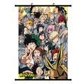 Affiche murale de peinture en rouleau de 20x30cm, papier peint d'anime Manga Boku No Hero Academia