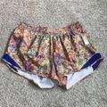 Lululemon Athletica Shorts   Lululemon Seawheeze Hotty Hot Shorts Tall   Color: Purple/Yellow   Size: 12