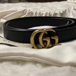 Gucci Accessories   A Double G Belt Gucci   Color: Black/Gold   Size: Gucci Size 70-28