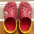 Disney Shoes | Disney Parks Girls Minnie Mouse Crocs Size 2 | Color: Red/White | Size: 2bb