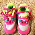 Nike Shoes | Girls Nike Air Max Shoes | Color: Gray/Pink | Size: 7bb
