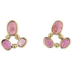 Pink Tourmaline Cluster Studs - Pink - Melissa Joy Manning Earrings