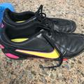 Nike Shoes | Black Indoor Nike Soccer Shoes | Color: Black/Yellow | Size: 10.5