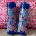 Lilly Pulitzer Kitchen | 2 Lilly Pulitzer Gypset Travel Mugs | Color: Blue/Pink | Size: Os