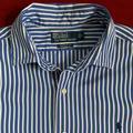 Polo By Ralph Lauren Shirts | Polo Classic Fit Striped Cotton Shirt | Color: Blue/White | Size: L