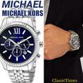 Michael Kors Accessories | **New** Michael Kors Mk8280 Mens Watch Lex | Color: Blue/Silver | Size: Os