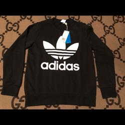 Adidas Shirts & Tops   Adidas Youth L Trefoil Crew Sweatshirt   Color: Black/White   Size: Youth L