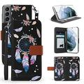 """BEYOND CELL Infolio Phone Case Compatible with Samsung Galaxy S21FE (6.5""""), Leather Wallet Case with Flexible TPU Inner Case, Support ID & Card Pockets, Wrist Strap, Landscape Viewing Function."""