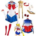 QDX Sailor Moon Tsukino Usagi Anime Cosplay Costume Halloween Women's Suit XXL
