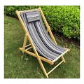 MTDWEITOO Portable Camping and Sports Chair Patio Lounge Chairs Solid Wood Portable Folding Chaise Longue Recliner Beach Deck Chair with Pillow Beach Portable Folding Backpack Beach Lounge Chair