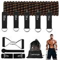 Men's Resistance Bands Set (11pcs),Fitness Band with Handle,Exercise Bands with Door Anchor,Portable Bag,Legs Ankle Straps,Used for Strength Training,Home Exercise,Physical Therapy