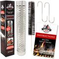 Trojan Grill Ultimate Smoker Tube COMPLETE KIT - Stainless Steel BBQ Wood Pellet Smoke Generator for Propane, Natural Gas, Electric or Charcoal Barbecue Grills - Extra Large 12 Inch
