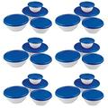 6 Pack 8-Piece Plastic Kitchen Covered Bowl/Mixing Set w/Lids kitchen stuff plastic containers storage containers for organizing storage container Kitchen accessories