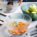 Glass Mixing Bowl-transparent Salad Bowl, Personalized Household Glass Noodle Bowl, Creative Tableware Fruit Dessert Bowl, for Storage and Mixing Transparent