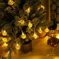 EZDAILY Globe String Lights Fairy Lights Battery Operated 8.2ft 20 LED String Lights Waterproof Indoor Outdoor Hanging Lights Decorative Christmas Lights