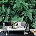 MAZF Custom Photo Wallpaper 3D Green Plant Leaf Mural Living Room TV Sofa Bedroom Home Decor Wall Covering Mural 3D 350 cm (B) x 260 cm (H)
