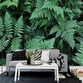 MAZF Custom Photo Wallpaper 3D Green Plant Leaf Mural Living Room TV Sofa Bedroom Home Decor Wall Covering Mural 3D 300 cm (B) x 250 cm (H)