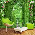 MAZF Custom Photo Wallpaper 3D Nature Landscape Long Corridor Murals Restaurant Living Room Classic Backdrop Wall Cloth Home Decor 3D 208 cm (B) x 146 cm (H)