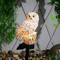 Owl Solar Lawn Lamp, Waterproof Solar Power LED Light, Solar Owl Lamp Simulation Sculpture, Solar LED Lights Path Lawn Yard Garden Lamp, Outdoor Lighting Night Light Decorative Home