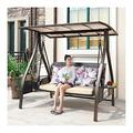 Patio Swing Porch Glider Hammock Hang Bench Chair, Patio Swing with Cushions and Canopy, Outdoor Lounge Chair Outside Furniture Outdoor Swing Chair Bench Outdoor Porch