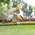Suncatchers 2 PCS Metal Hummingbird Bird Fruit Feeder Metal Hanging Bird Food Holder with Handle for Decoration Garden Patio Trunk Outside (Color : A)