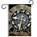 Home Garden Flags,Stylish Seasonal Garden Flags For Home Holiday Decoration,Clock Time Fate