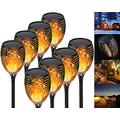 QDY -Solar Flame Light, 12 LEDs Solar Lamp Garden Torches Solar Light Garden, Garden Flame, Garden Torch Garden Torches with Realistic Flames