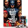 Educational Jigsaw Justice League Movie Poster 1000 Pcs for Birthday Present Idle at Home Wooden Puzzle