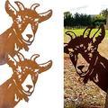 Peeping Cow Ornament,3D Peeping Cow Metal Art,Farm Peeping Cattle Metal Art Outdoor (2 PCS, Sheep)