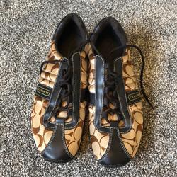 Coach Shoes | Coach Casual Tennis Shoes | Color: Brown/Tan | Size: 9.5