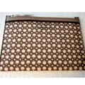 Kate Spade Bags   Kate Spade Link Medium Zipper Pouch   Color: Brown/Cream   Size: H- 8.14 X W - 5.7