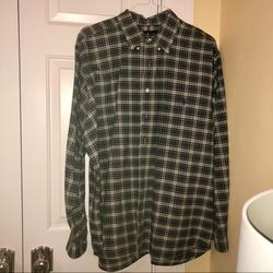 Polo By Ralph Lauren Shirts   Polo Ralph Lauren Cotton Classic Fit Plaid Shirt   Color: Brown/Green   Size: Xxl