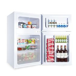 Costway Refrigerator Small Freezer Cooler Fridge Compact 3.2 Cu Ft. UnitPlastic in White, Size 34.0 H x 19.0 W x 17.5 D in | Wayfair EP22672WH
