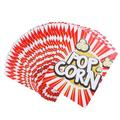 pixnor 48Pcs Popcorn Boxes Wrapper Bags Decorative Dinnerware For Birthday Parties Baby Showers Graduations in Black/White   Wayfair 3090189-Z0004
