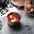 ATS Measuring Cups Set Of 4 Stackable Stainless Steel Measuring Cups Kitchen Measuring Cups Set Measure Cup For Cooking Baking in Pink | Wayfair