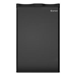 Costway 3.2 Cu.ft. Compact Refrigerator Mini Dorm Small Fridge Freezer Reversible DoorPlastic in Black, Size 31.0 H x 17.5 W x 17.0 D in   Wayfair