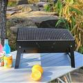 GuangMing Portable Charcoal Grill Outdoor Grills & Smokers Foldable Barbecue Grill Camping Picnic Travel Patio Backyard Cooking, Black | Wayfair