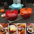 GuangMing 4.8 Quart Cast Iron Dutch Oven,Bread Baking Pot w/ Self Basting Lid, Porcelain Enameled Surface Cookware Pot, RedAluminum in Blue | Wayfair