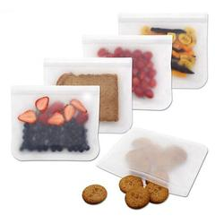 LINKING 6 Reusable Packs Airtight Freezer Bags BPA Free Ziplock Lunch Bag Storage Bags For Food Travel Storage Home Organization (6 Pack Sandwich Bags)