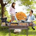 shanglixiansenxinmaoyi Charcoal Grill Portable BBQ Grill Large Charcoal Grill Folding Barbecue Grill Charcoal Shish Kebab Grill Stainless Steel Camping Grill For Outdoor Pic