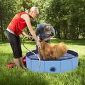 Polar PVC Pet Foldable Swimming Pool,Dogs Cats Bathing Tub,Portable Bathtub, Size 11.8 H x 39.4 W x 11.8 D in | Wayfair 15ZCY00020
